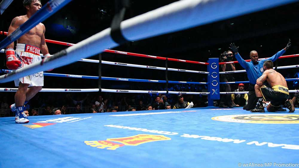 Pacquiao TKOs Matthysse, now the new WBA Welterweight Champion