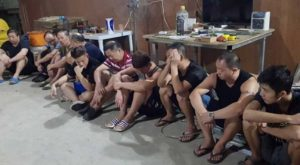 Chinese nationals arrested in a fake cigarette factory in Gapan City
