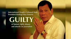 "International People's Tribunal finds Duterte ""guilty"""
