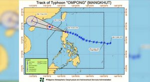 "Typhoon Ompong, not classified as ""Super Typhoon"" anymore"