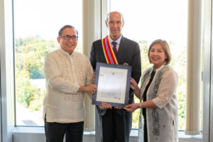 WIPO Director General conferred the Order of Sikatuna