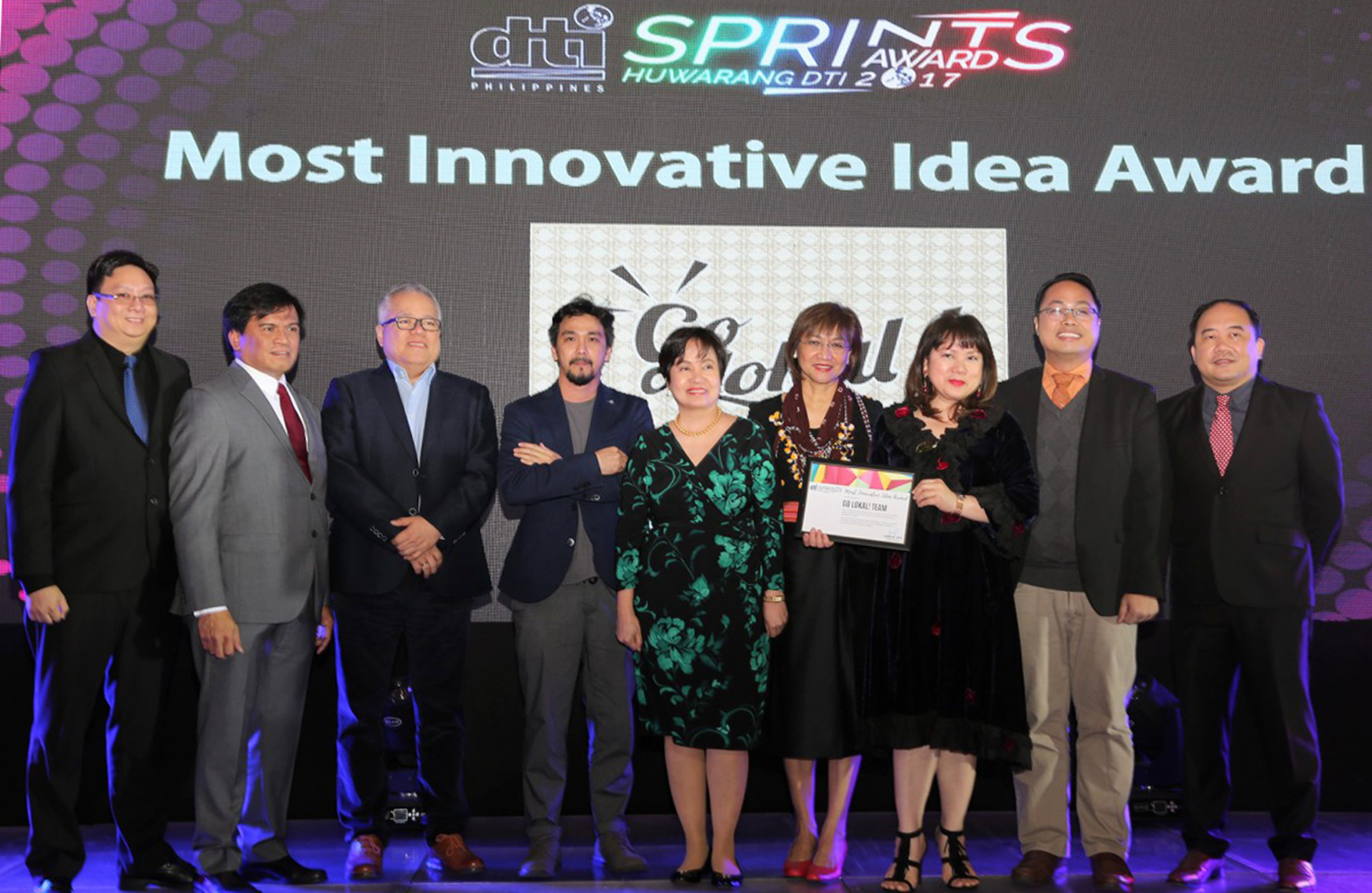 Go Lokal! bags Most Innovative Idea Award at SPRints 2017 Huwarang DTI