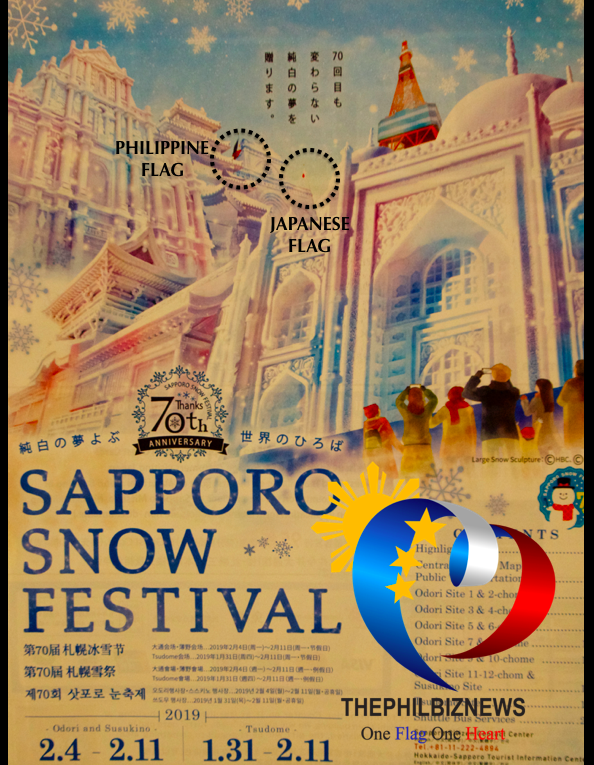 Japan includes Philippine flag in the 70th Anniversary of Sapporo Snow Festival Posters and Official Guides