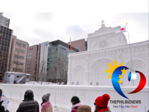 "Philippines' historical ""Manila Cathedral"" Snow Sculpture featured in Sapporo Snow Festival"