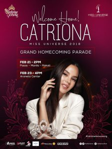 Miss Universe Catriona Gray's homecoming to be celebrated with festive parades, charity visits
