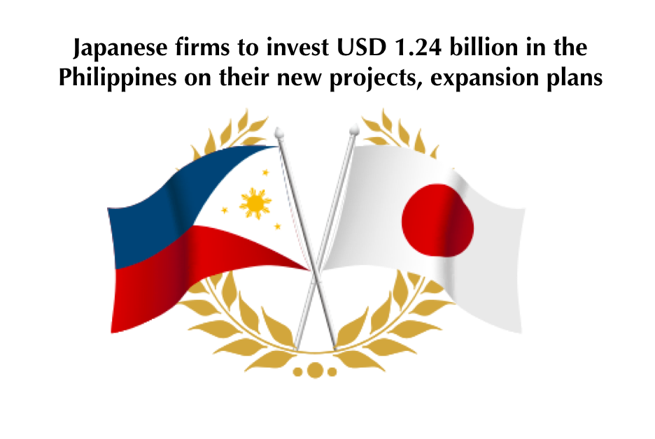 Japanese firms to invest USD 1.24 billion in the Philippines on their new projects, expansion plans