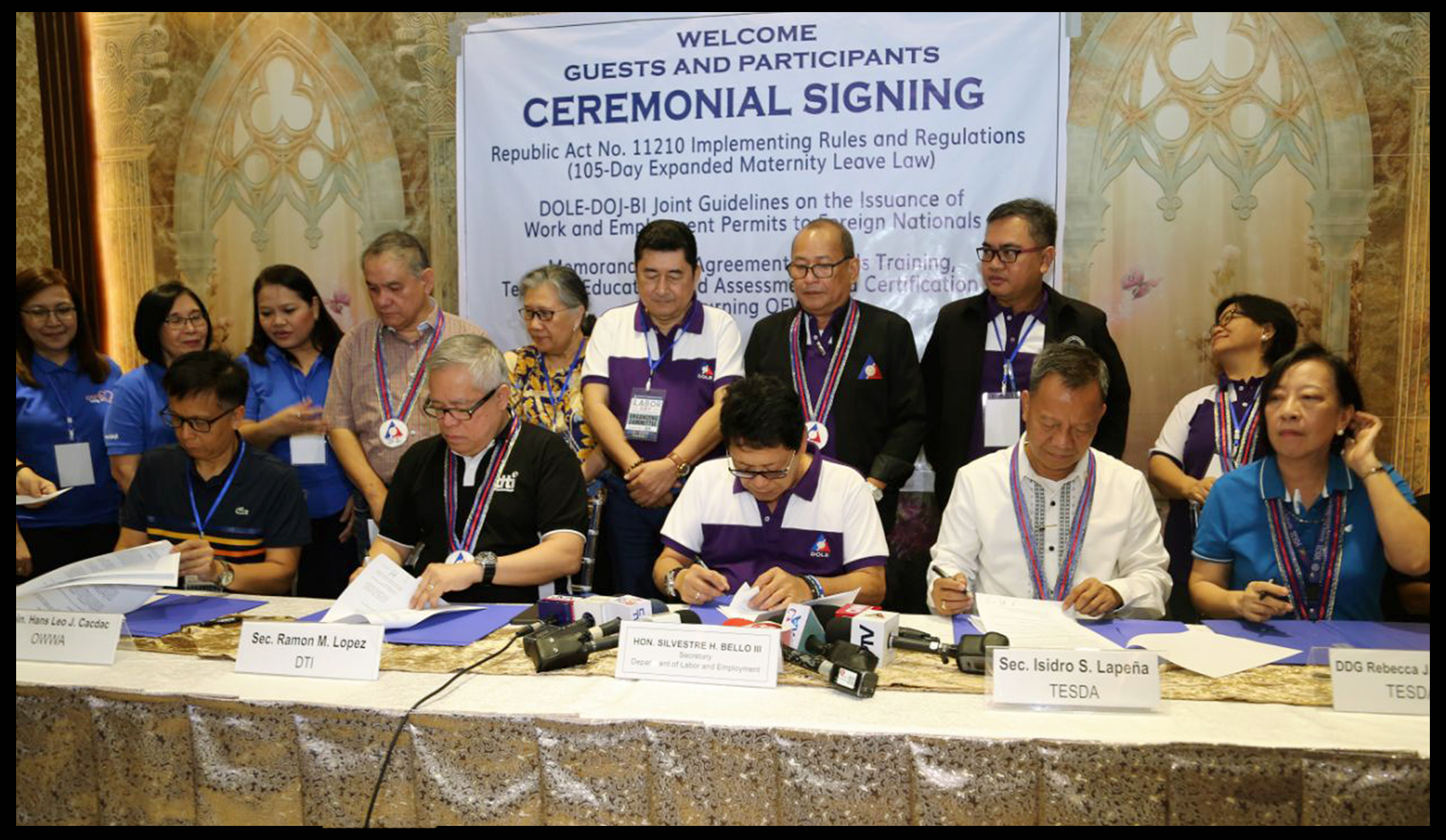 DTI, OWWA, TESDA to provide training and business assistance to returning OFWs & their families