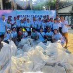 Globe Telecom supports Boracay sustainability week; joins beach clean up drive