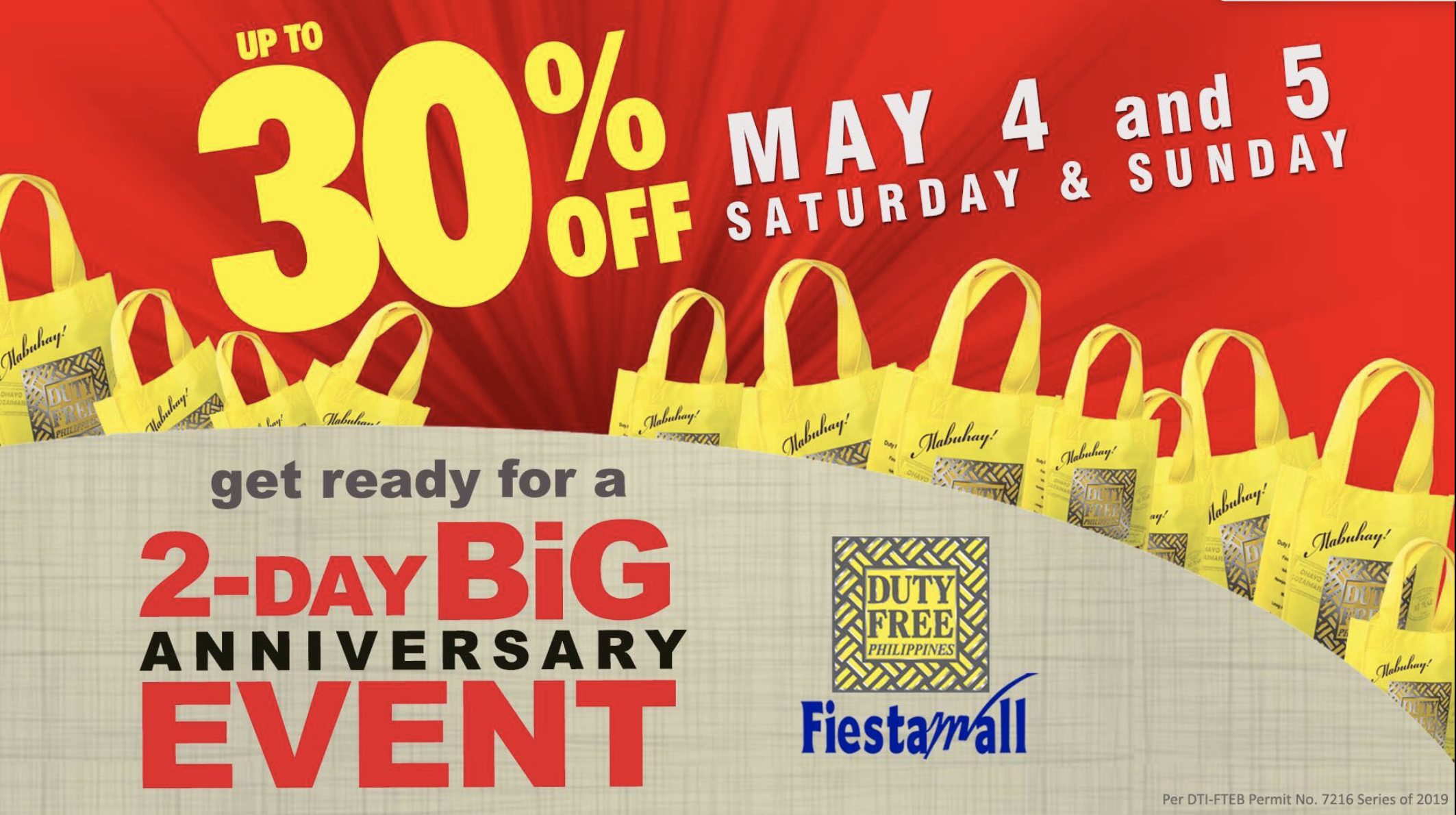Duty Free PH treats you with a huge discount on its 32nd Anniversary Celebration
