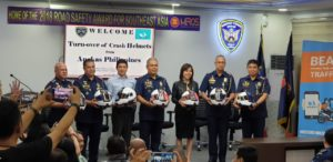 PNP-HPG receives safety riding gear from Angkas