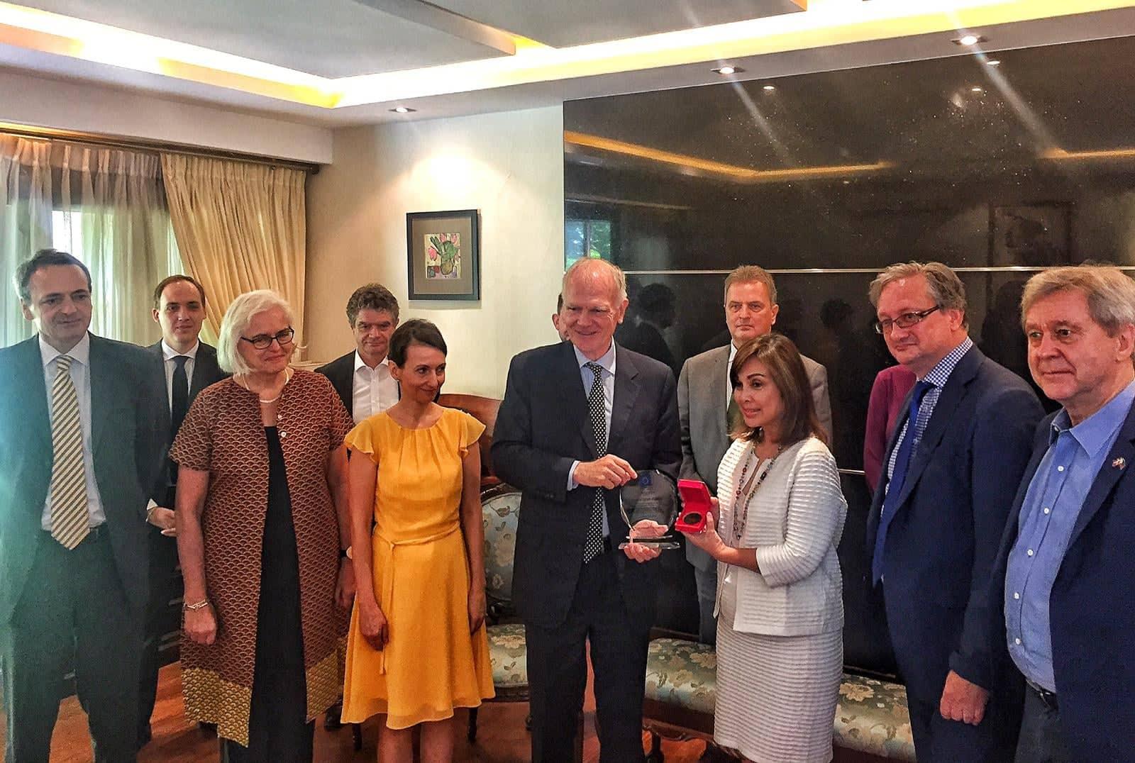 Senator Legarda Receives Award of Distinction from EU