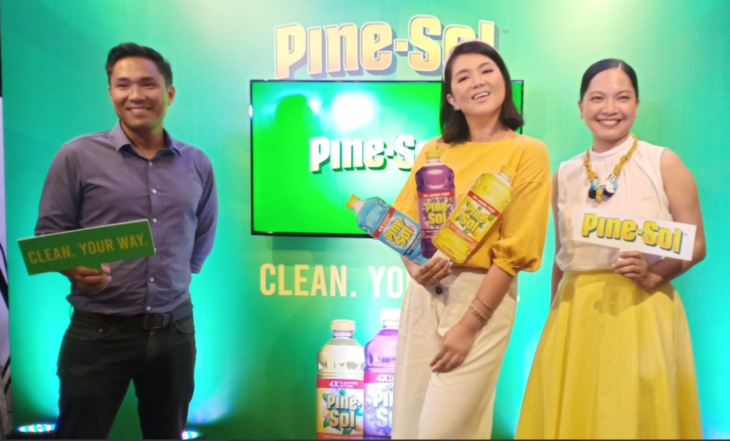 Clear the room, play the music, and move it  for the 'Pine-Sol Cleaning Dance Challenge'
