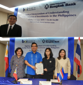 BOI, Bangkok Bank ink cooperation deal