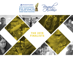 Finalists of the 2019 Metrobank Foundation Outstanding Filipinos Named