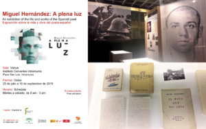 Literary Legacy of Spanish icon Miguel Hernández will be exhibited byInstituto Cervantes