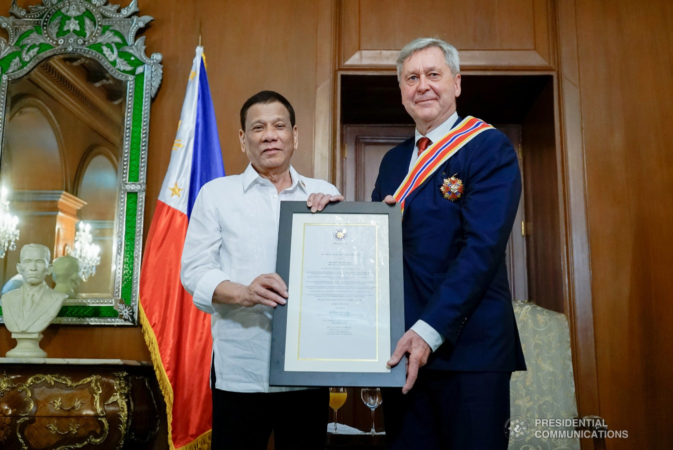 Outgoing Danish Ambassador conferred Order of Sikatuna