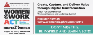WomenBiz Summit 2019 set August 30
