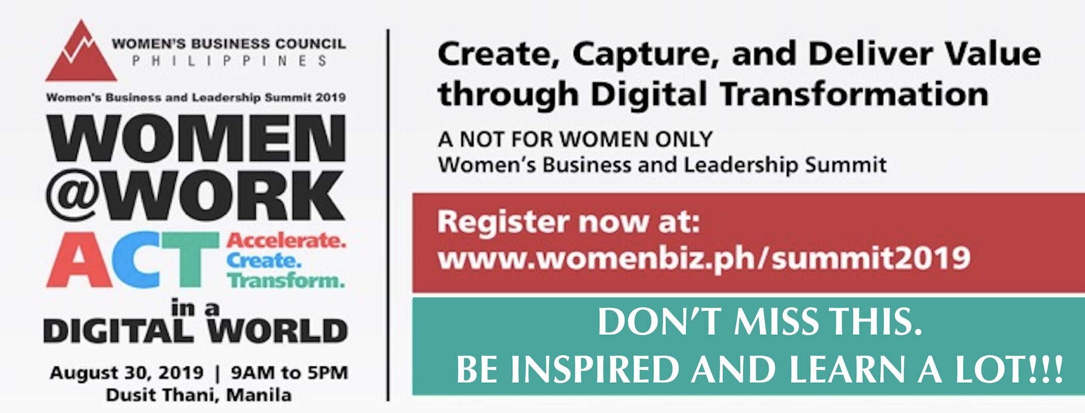 WomenBiz Summit 2019 set August 30