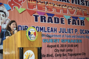 DTI's Ocampo rallies support for MSMEs in Tuguegarao, calls for 'buy local' ordinance