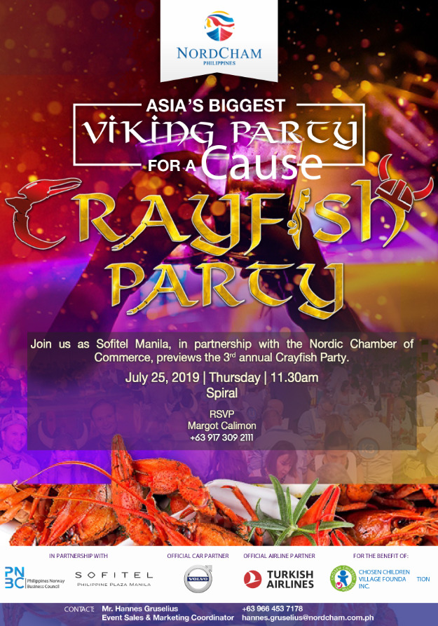 Asia's biggest crayfish party at Sofitel on Sept. 14