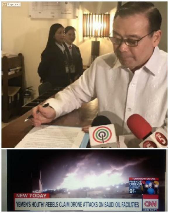 Shocking drone attacks on Saudi oil facilities to spike world prices; PH to be deeply affected – Locsin