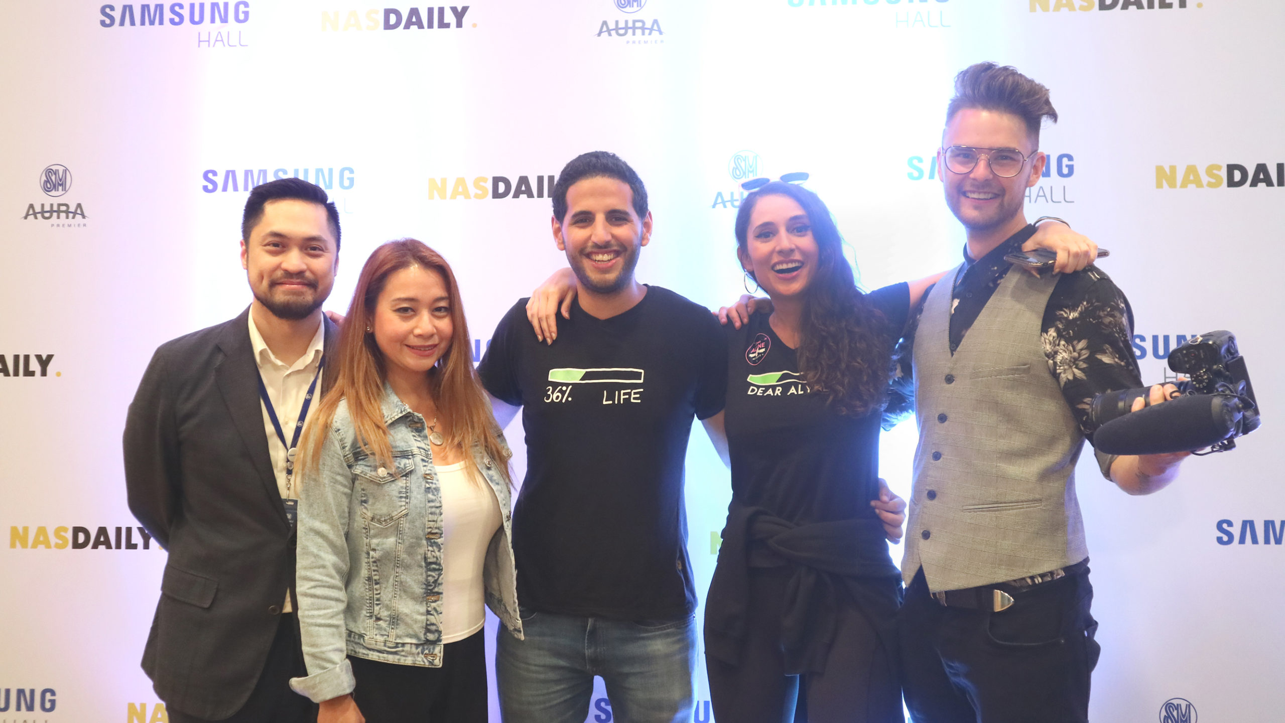 Nas Daily Talks About Philippine Environment  at Samsung Hall, SM Aura Premier