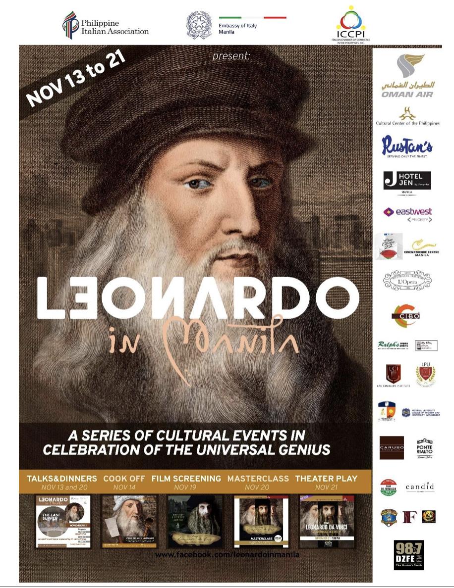 Manila celebrates Leonardo da Vinci Quincentennial