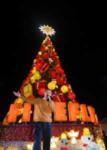 Firefly LED, Jose Mari Chan made Holiday celebration safer and brighter as 75 feet Christmas tree lighted up