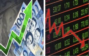 Peso ends stronger, stocks falls