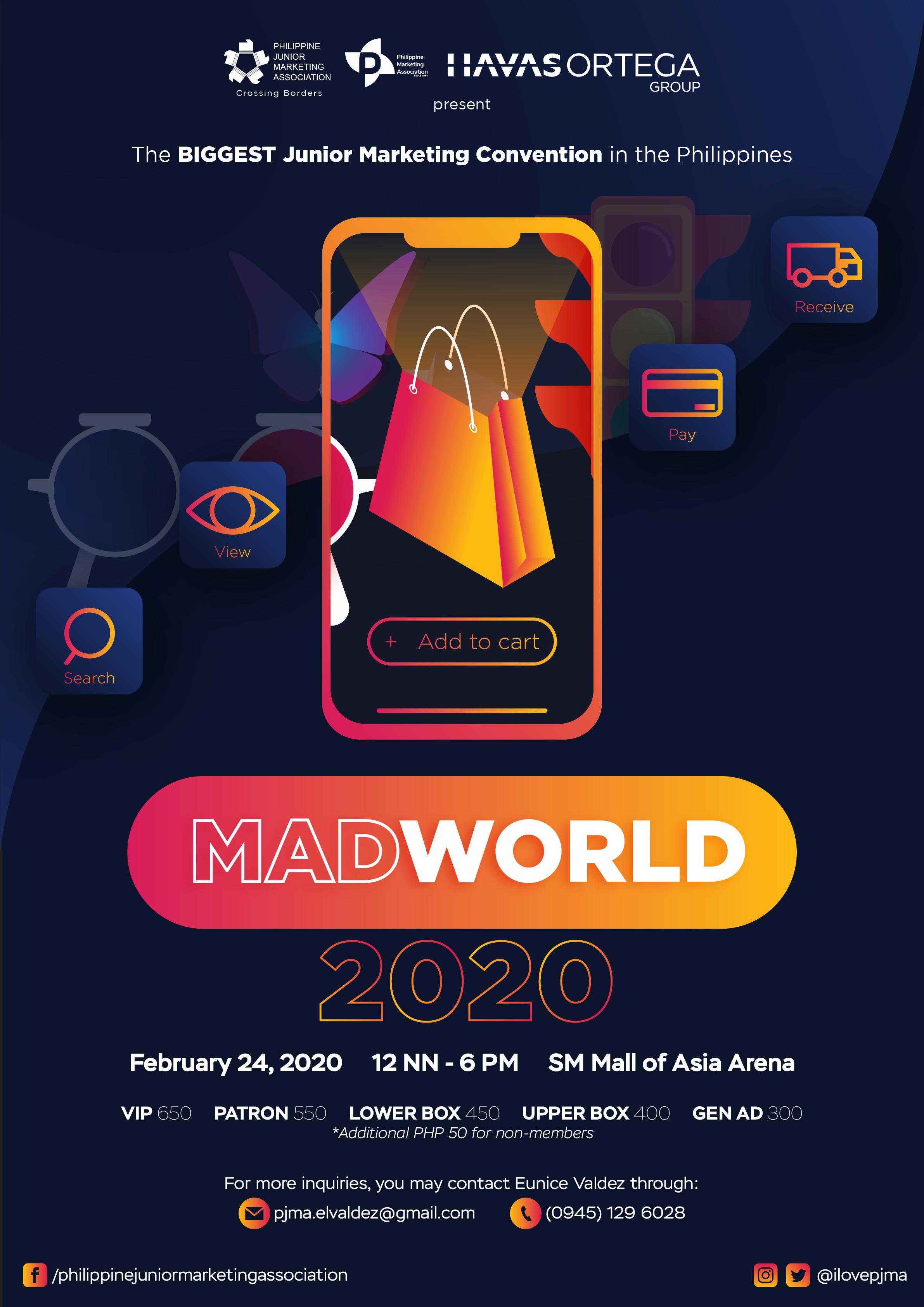 Philippine Junior Marketing Association (PJMA) gears up for MADWORLD 2020