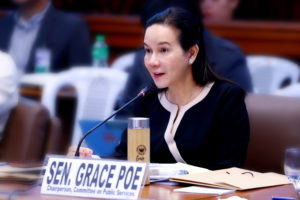 """Sen. Poe chides DOTr, TWG for arbitrarily declaring motorcycle taxis """"illegal"""""""