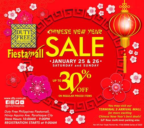 Duty Free Philippines welcomes Chinese New Year with a 2-Day Sale