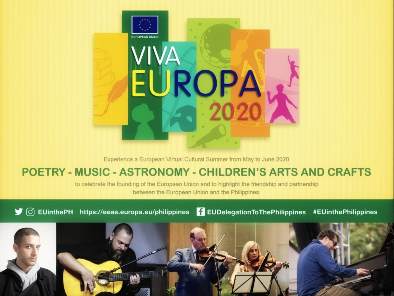 Euro-Pinoy Concert sets to take center stage on May 29 in Viva Europa 2020