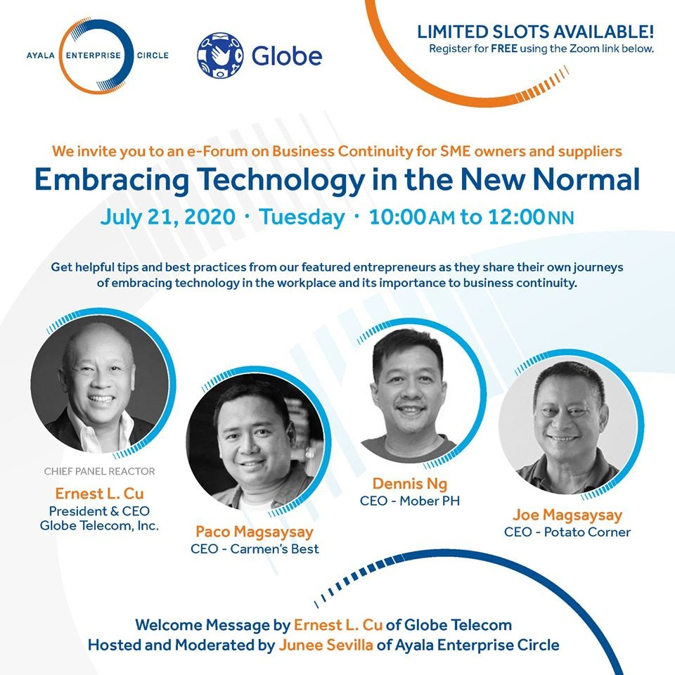 Globe, Ayala Enterprise Circle gear up for entrepreneurs' webinar on the new normal