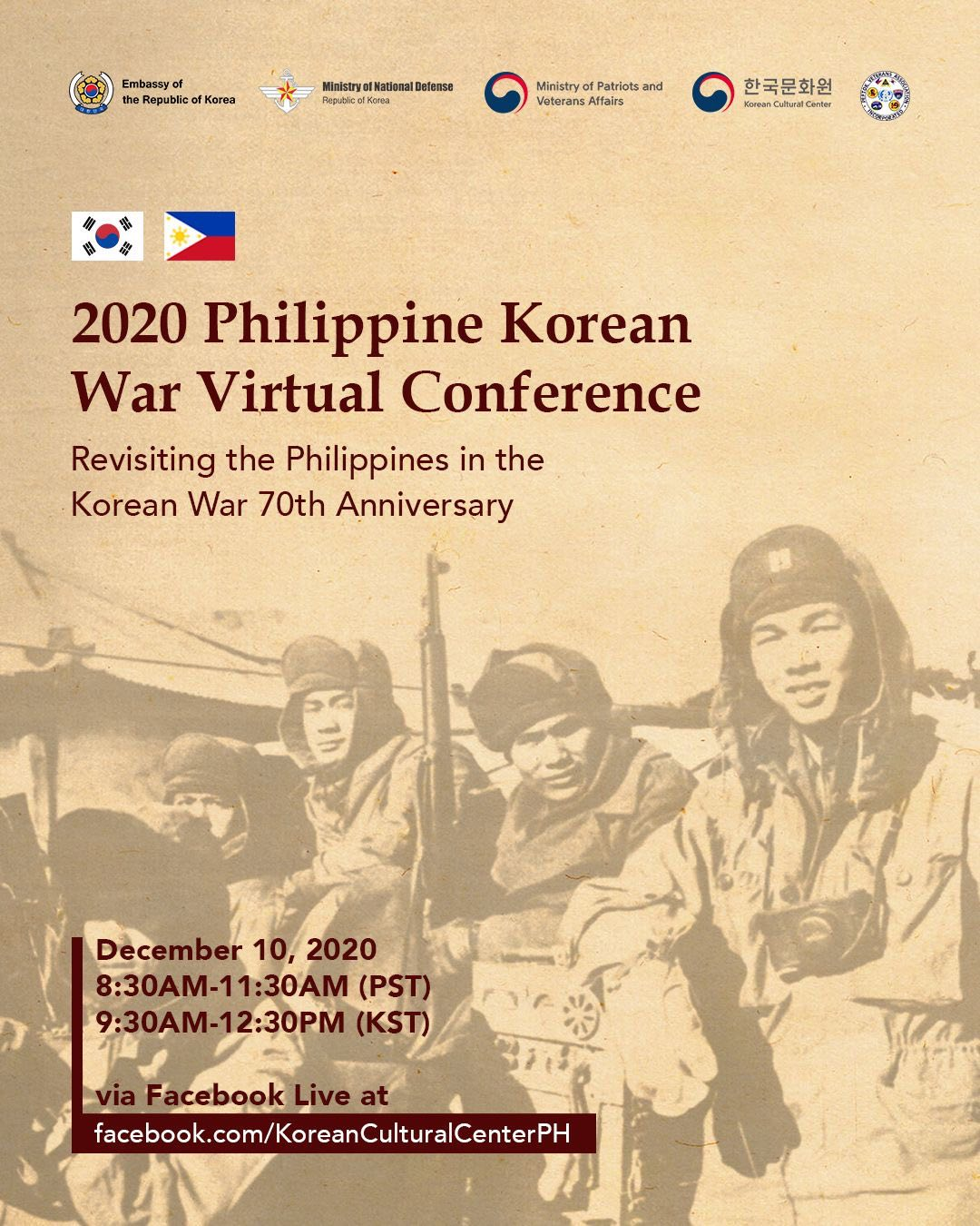 Filipino Veterans to be honored at Philippine Korean War Virtual Conference