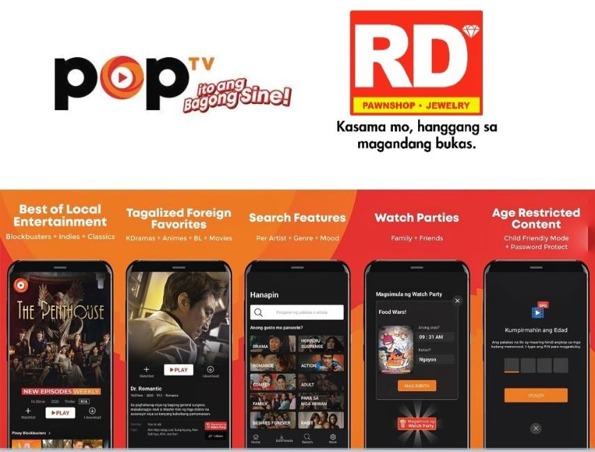 POPTV Made Available on  RD Pawnshops Nationwide