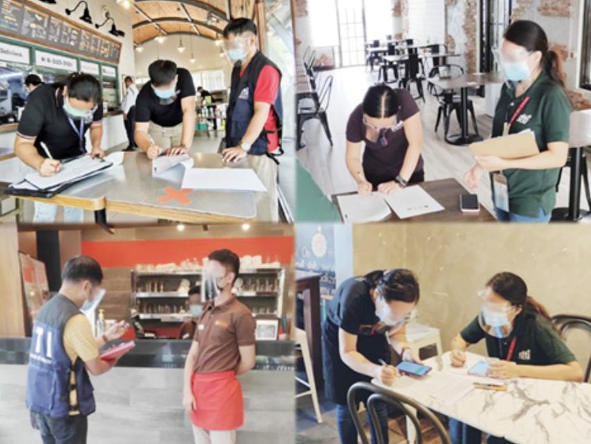 Business establishments in Metro Manila observe strict compliance with health protocols