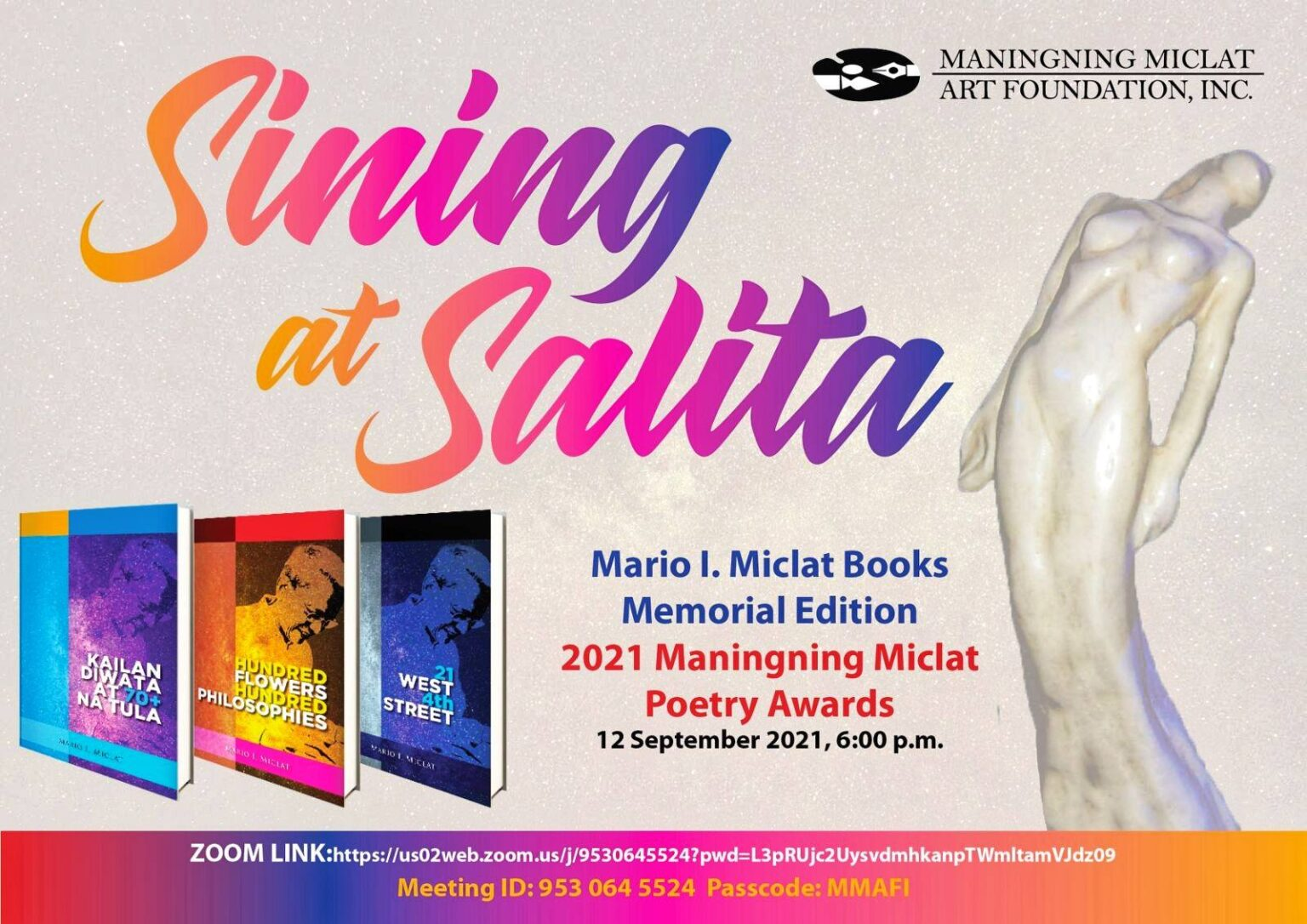 Writer and Educator Mario Miclat's Last Books Launched on Sept. 12